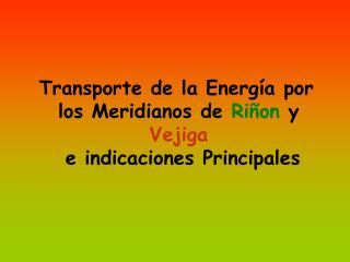 Transporte de la Energía por los Meridianos de  Riñon  y  Vejiga e indicaciones Principales