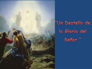 """""""Un Destello de la Gloria del Señor."""""""