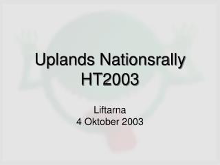 Uplands Nationsrally HT2003
