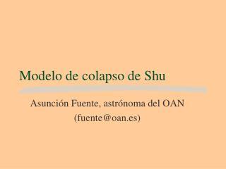 Modelo de colapso de Shu