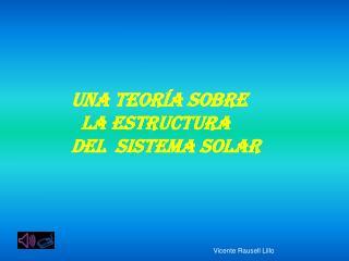 UNA TEORÍA SOBRE    la estructura    DEL  SISTEMA SOLAR