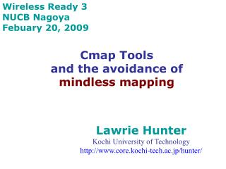 Cmap Tools  and the avoidance of mindless mapping