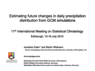 Estimating future changes in daily precipitation distribution from GCM simulations