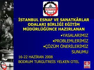 ISTANBUL ESNAF VE SANATK RLAR ODALARI BIRLIGI EGITIM M D RL G NCE HAZIRLANAN