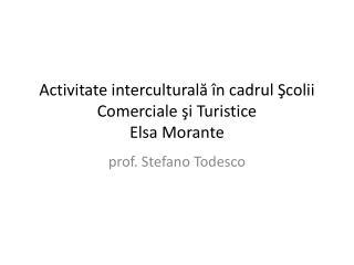 Activitate interculturală în cadrul Şcolii Comerciale şi Turistice  Elsa Morante