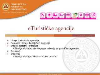 eTurističke agencije