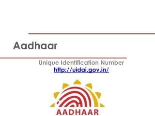 AADHAR UID Card