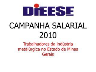 CAMPANHA SALARIAL 2010