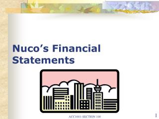 Nuco�s Financial Statements