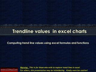 Compute Trendline Values In Excel