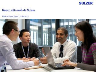 Nuevo sitio web de Sulzer