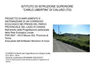 """ISTITUTO DI ISTRUZIONE SUPERIORE  """"CARLO UBERTINI"""" DI CALUSO (TO)"""