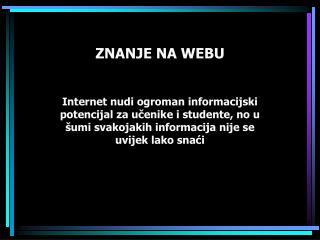 ZNANJE NA WEBU