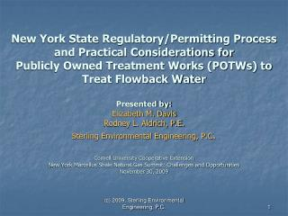 C 2009, Sterling Environmental Engineering, P.C.