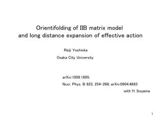 Orientifolding of IIB matrix model  and long distance expansion of effective action