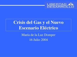 Crisis del Gas y el Nuevo Escenario El�ctrico