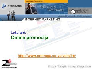 Lekcija  6 : Online promocija