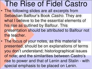 The Rise of Fidel Castro