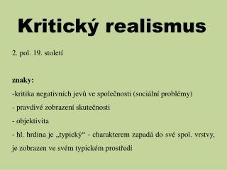 Kritický realismus