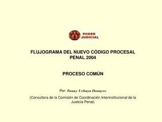 FLUJOGRAMA DEL NUEVO CÓDIGO PROCESAL PENAL 2004 PROCESO COMÚN Por:  Fanny Uchuya Donayre