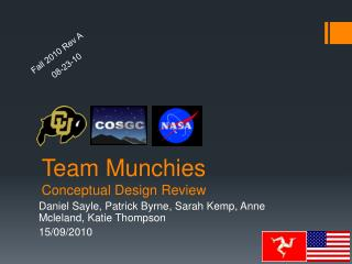 Team Munchies Conceptual Design Review