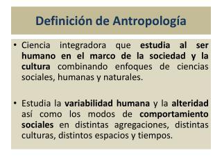 Definición de Antropología