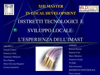 XIII MASTER  IN LOCAL DEVELOPMENT