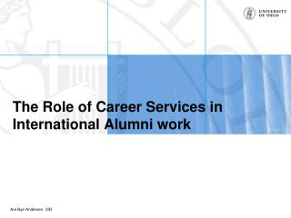 The Role of Career Services in International Alumni work