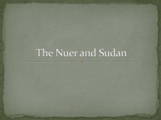 The  Nuer  and Sudan