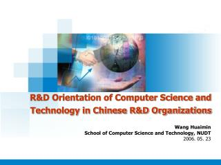 R&D Orientation of Computer Science and Technology in Chinese R&D Organizations