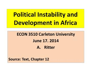 Political Instability and Development in Africa