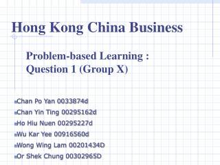 Hong Kong China Business