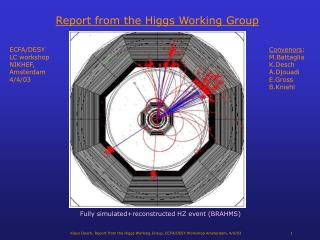 Report from the Higgs Working Group