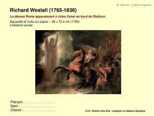 LCA / Histoire des Arts: analyser un tableau classique