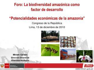 Miriam Cerdán Dirección General de Diversidad Biológica