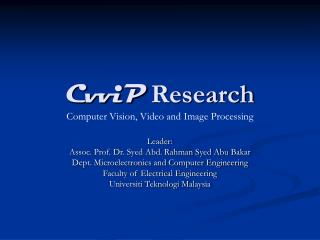 CvviP  Research