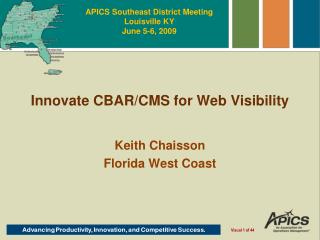 Innovate CBAR/CMS for Web Visibility