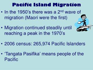 Pacific Island Migration