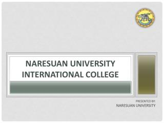 NARESUAN UNIVERSITY International College