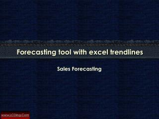Sales forecasting using Excel