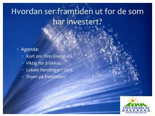 Hvordan ser framtiden ut for de som har investert?
