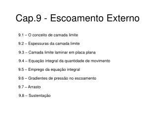 Cap.9 - Escoamento Externo