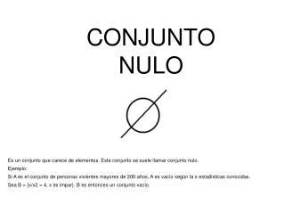 CONJUNTO NULO
