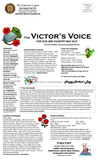 Nonprofit org. U.S. Postage PAID Pensacola, FL Permit No. 385