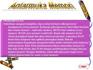 Antarmuka Memori
