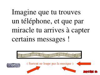 Imagine que tu trouves un t l phone, et que par miracle tu arrives   capter certains messages