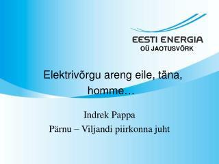 Elektrivõrgu areng eile, täna, homme…