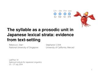 The syllable as a prosodic unit in Japanese lexical strata: evidence from text-setting