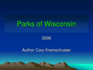 Parks of Wisconsin