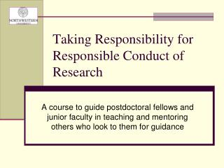 Taking Responsibility for Responsible Conduct of Research
